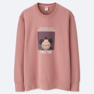 Uniqlo x Disney Blush Pink Mickey Crewneck Sweater